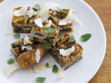 Frittata mit Austernpilzen und Zucchini