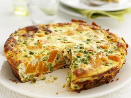 frittata mit erbsen und m hren rezept eat smarter. Black Bedroom Furniture Sets. Home Design Ideas