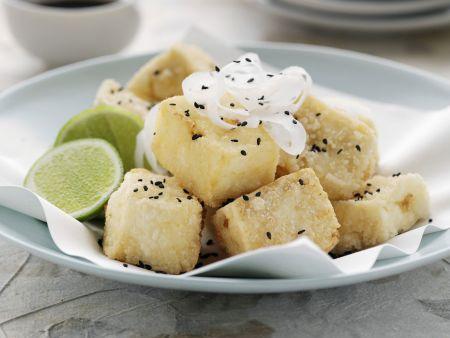 Frittierter Tofu mit Daikon