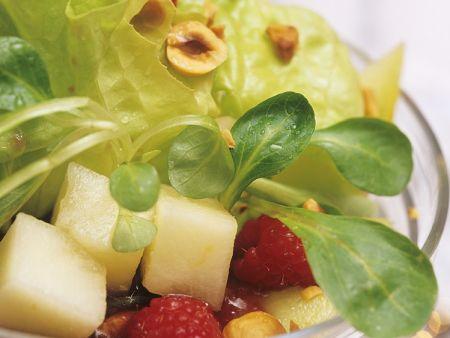 Fruchtiger Blattsalat