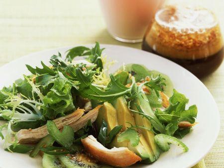 Fruchtiger Hähnchen-Blattsalat