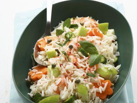 Fruchtiger Reis mit Karotten, Kräutern und Pecorino