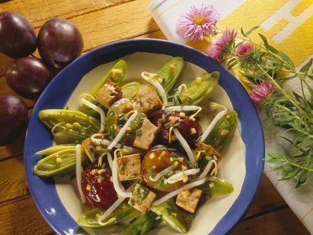 Fruchtiges Lauchgemüse mit Tofu