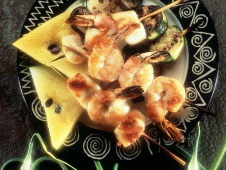 Garnelen-Muschelspieß vom Grill