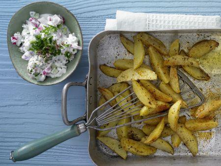 Gebackene Kartoffelspalten