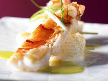 Gebratene Meeresfrüchte mit Currysauce