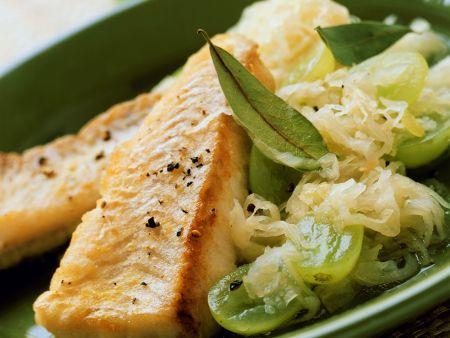 Gebratenes Filet vom Seelachs mit Traubenkraut