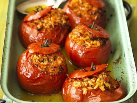 Gefüllte Tomaten aus dem Ofen