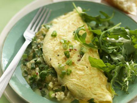 Gefülltes Omelett mit grünen Chili