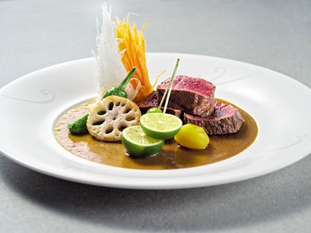 Gegrillte Rehsteaks mit Wasabi-Umeboshi-Sauce