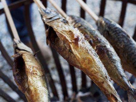 Gegrillter Fisch (Steckerlfisch)