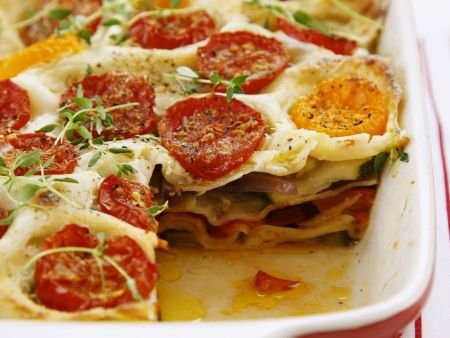 gem se lasagne mit tomaten paprika und zucchini rezept eat smarter. Black Bedroom Furniture Sets. Home Design Ideas