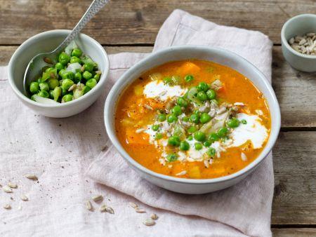 Gemüse-Linsen-Eintopf mit Erbsen