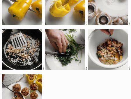Gemüse mit Hackfleisch-Kräuterfüllung