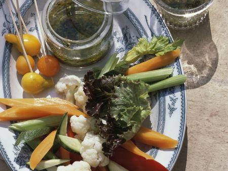Gemüse mit Sardellensoße nach französischer Art