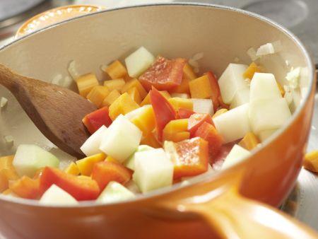 Gemüse-Reis-Pfanne aus dem Ofen: Zubereitungsschritt 5