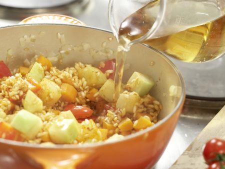 Gemüse-Reis-Pfanne aus dem Ofen: Zubereitungsschritt 7