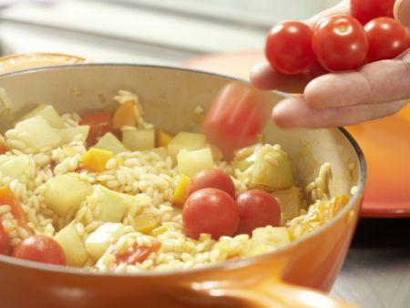 Gemüse-Reis-Pfanne aus dem Ofen: Zubereitungsschritt 8