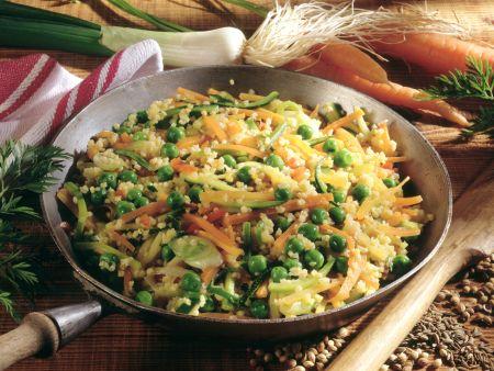Gemüse-Pfanne mit Hirse