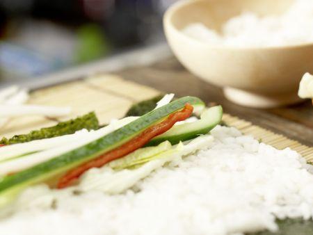 Gemüse-Sushi: Zubereitungsschritt 11