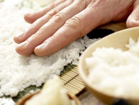 Gemüse-Sushi: Zubereitungsschritt 9