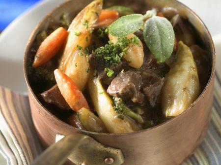 Gemüseeintopf mit Fleisch