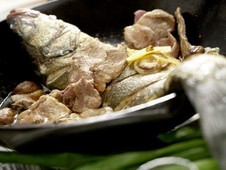 Geschmorter Fisch Shanghai: Zubereitungsschritt 8