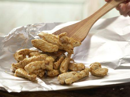 Geschnetzeltes mit Kichererbsen: Zubereitungsschritt 6