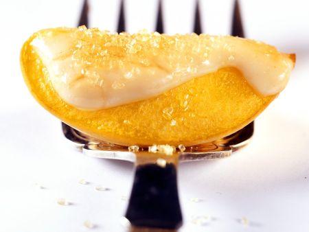 Glasierter Pfirsich