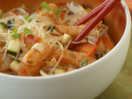 Glasnudelsalat mit Shrimps