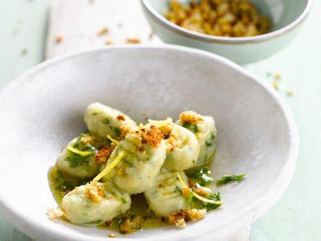 Gnocchi aus Rüben und Kartoffeln mit Zitrone