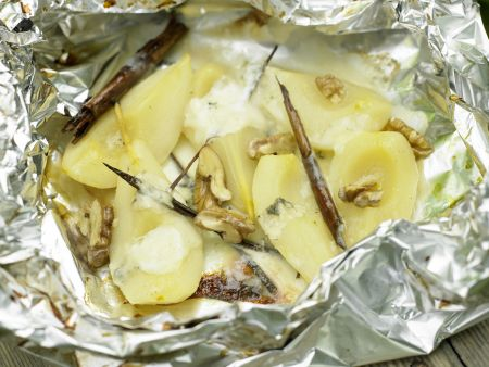 Gorgonzola-Birnen vom Grill