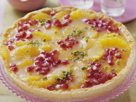 Granatapfel-Orangen-Tarte