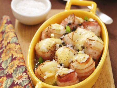 Gratinierte Kartoffeln im Speckmantel