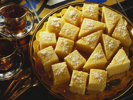 Grießkuchenschnitten