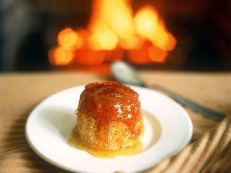 Grießpudding mit Honig