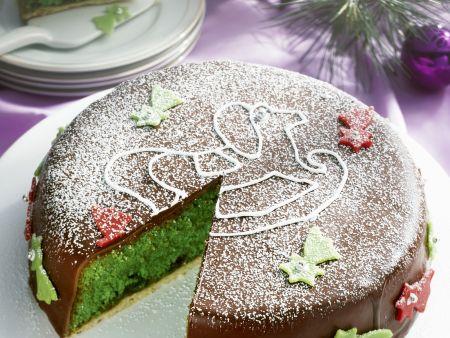 Grüne Ananas-Marzipan-Torte