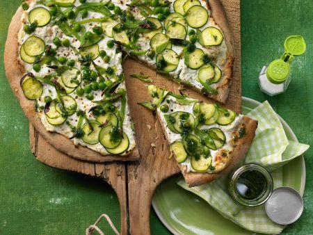 Grüne Pizza