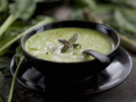 Grüner Spargel-Spinat-Suppe