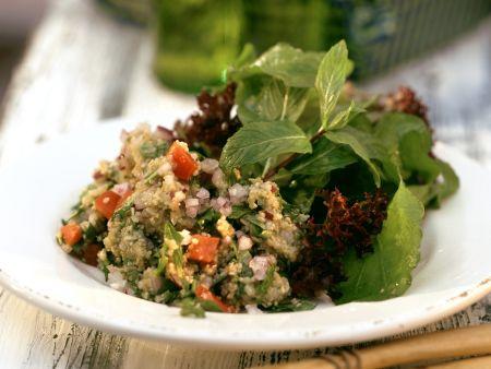 Rezept: Grünkernsalat mit Rucola