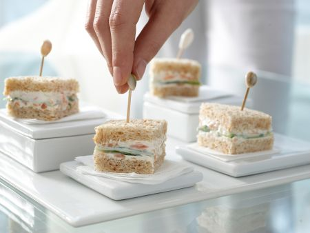 Gurken-Sandwichs