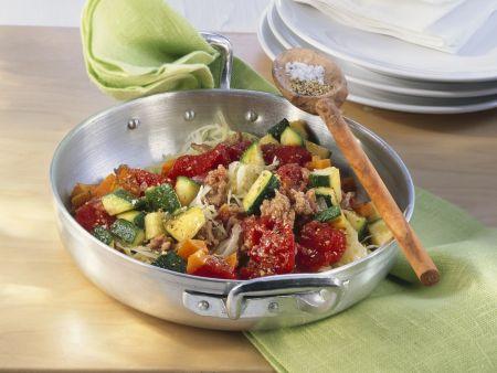 Hackfleisch-Gemüsepfanne
