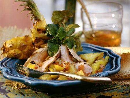 Hähnchen-Ananas-Salat auf kreolische Art