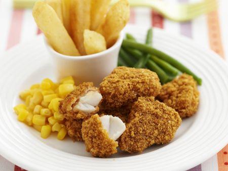 Hähnchen-Nuggets mit Gemüsebeilage