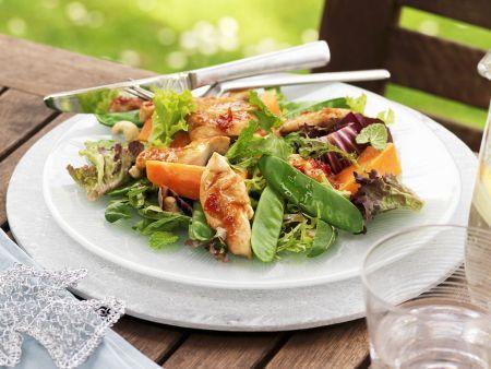 Hähnchen-Papaya-Salat mit Cashewnüssen