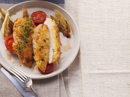 Hähnchenbrust mit Kartoffelhaube
