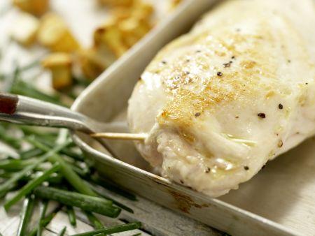 Hähnchenbrust mit Ziegenkäse: Zubereitungsschritt 9