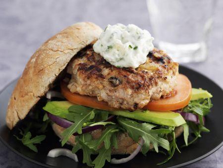 Hähnchenburger mit Kräuterquark