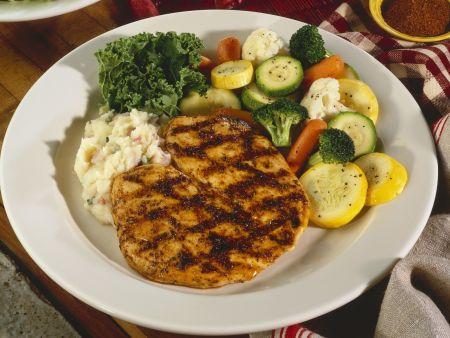 Hähnchenfilet vom Grill mit Gemüse
