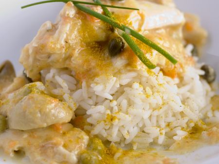 Hähnchenragout mit Reis